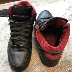 Nike hightop velvet quilted sneakers